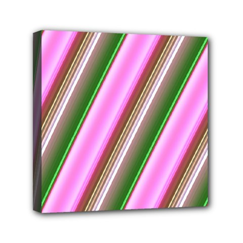 Pink And Green Abstract Pattern Background Mini Canvas 6  X 6  by Nexatart