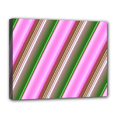 Pink And Green Abstract Pattern Background Canvas 14  X 11  by Nexatart