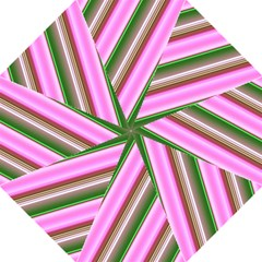Pink And Green Abstract Pattern Background Folding Umbrellas by Nexatart