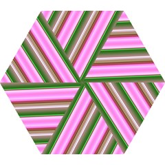 Pink And Green Abstract Pattern Background Mini Folding Umbrellas