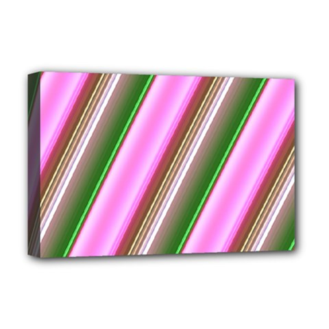 Pink And Green Abstract Pattern Background Deluxe Canvas 18  X 12   by Nexatart