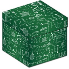 Scientific Formulas Board Green Storage Stool 12   by Mariart