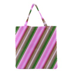 Pink And Green Abstract Pattern Background Grocery Tote Bag