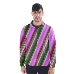 Pink And Green Abstract Pattern Background Wind Breaker (men)