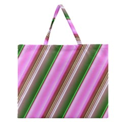 Pink And Green Abstract Pattern Background Zipper Large Tote Bag by Nexatart