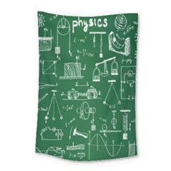 Scientific Formulas Board Green Small Tapestry by Mariart