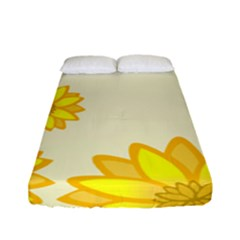 Sunflowers Flower Floral Yellow Fitted Sheet (full/ Double Size) by Mariart