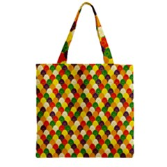 Flower Floral Sunflower Color Rainbow Yellow Purple Red Green Zipper Grocery Tote Bag by Mariart