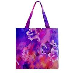 Littie Birdie Abstract Design Artwork Grocery Tote Bag
