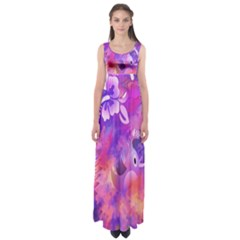 Littie Birdie Abstract Design Artwork Empire Waist Maxi Dress by Nexatart