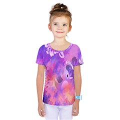 Littie Birdie Abstract Design Artwork Kids  One Piece Tee by Nexatart