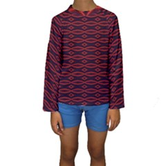 Repeated Tapestry Pattern Abstract Repetition Kids  Long Sleeve Swimwear