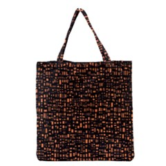Brown Box Background Pattern Grocery Tote Bag by Nexatart