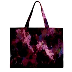 Grunge Purple Abstract Texture Zipper Mini Tote Bag by Nexatart