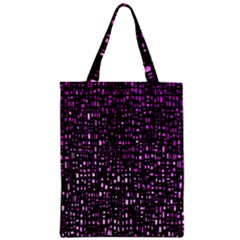 Purple Denim Background Pattern Zipper Classic Tote Bag by Nexatart