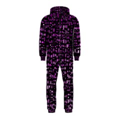 Purple Denim Background Pattern Hooded Jumpsuit (kids) by Nexatart