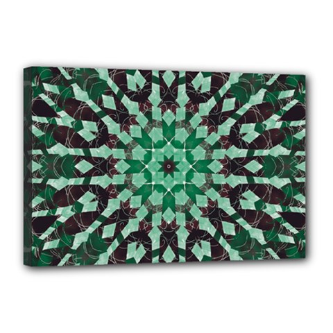 Abstract Green Patterned Wallpaper Background Canvas 18  X 12