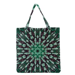 Abstract Green Patterned Wallpaper Background Grocery Tote Bag by Nexatart
