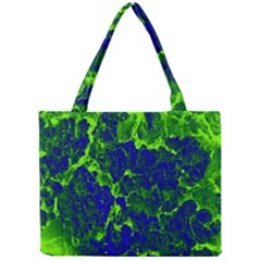 Abstract Green And Blue Background Mini Tote Bag by Nexatart