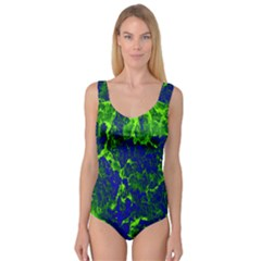 Abstract Green And Blue Background Princess Tank Leotard