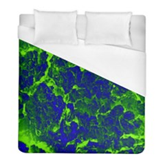 Abstract Green And Blue Background Duvet Cover (Full/ Double Size)