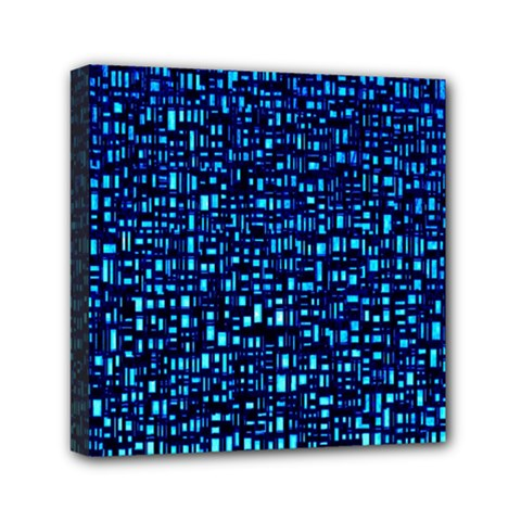 Blue Box Background Pattern Mini Canvas 6  X 6  by Nexatart