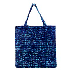 Blue Box Background Pattern Grocery Tote Bag by Nexatart