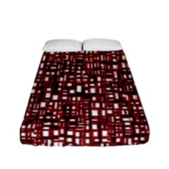 Red Box Background Pattern Fitted Sheet (full/ Double Size)