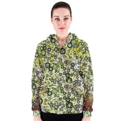 Chaos Background Other Abstract And Chaotic Patterns Women s Zipper Hoodie