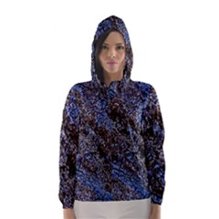 Cracked Mud And Sand Abstract Hooded Wind Breaker (women)
