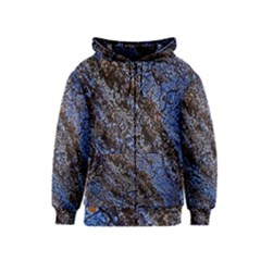 Cracked Mud And Sand Abstract Kids  Zipper Hoodie