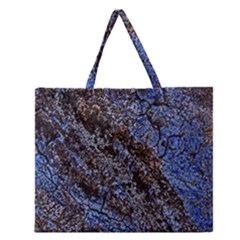 Cracked Mud And Sand Abstract Zipper Large Tote Bag by Nexatart