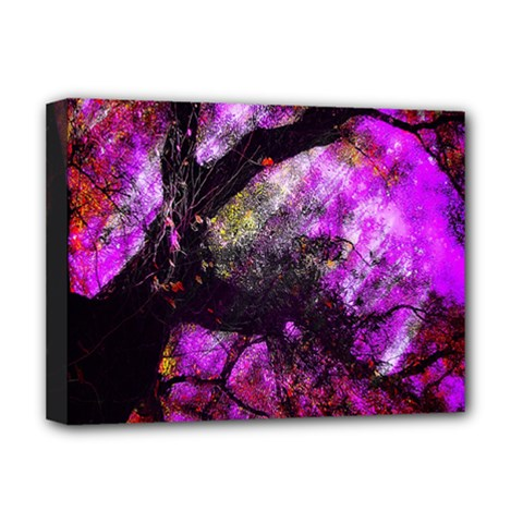 Pink Abstract Tree Deluxe Canvas 16  X 12   by Nexatart