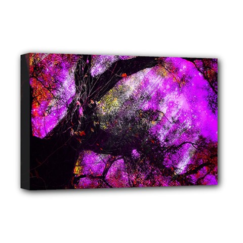 Pink Abstract Tree Deluxe Canvas 18  X 12   by Nexatart