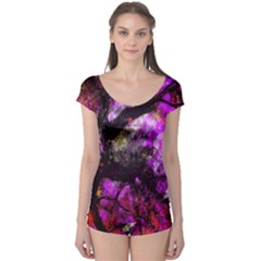 Pink Abstract Tree Boyleg Leotard