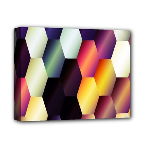 Colorful Hexagon Pattern Deluxe Canvas 14  X 11  by Nexatart