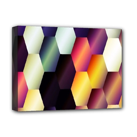 Colorful Hexagon Pattern Deluxe Canvas 16  X 12   by Nexatart