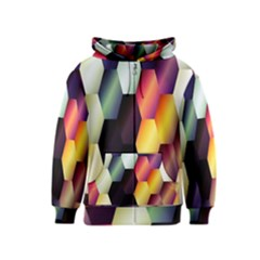 Colorful Hexagon Pattern Kids  Zipper Hoodie