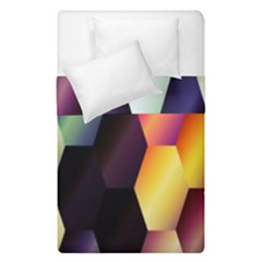 Colorful Hexagon Pattern Duvet Cover Double Side (single Size) by Nexatart