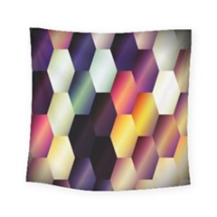 Colorful Hexagon Pattern Square Tapestry (small) by Nexatart