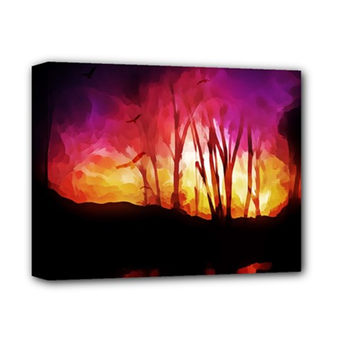 Fall Forest Background Deluxe Canvas 14  X 11  by Nexatart