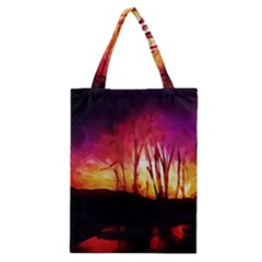 Fall Forest Background Classic Tote Bag by Nexatart