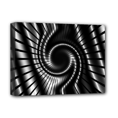 Abstract Background Resembling To Metal Grid Deluxe Canvas 16  X 12