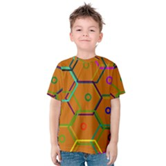 Color Bee Hive Color Bee Hive Pattern Kids  Cotton Tee