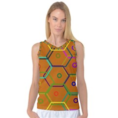 Color Bee Hive Color Bee Hive Pattern Women s Basketball Tank Top by Nexatart