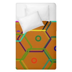 Color Bee Hive Color Bee Hive Pattern Duvet Cover Double Side (single Size) by Nexatart