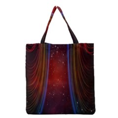 Bright Background With Stars And Air Curtains Grocery Tote Bag
