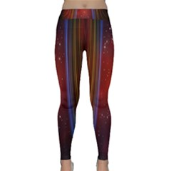 Bright Background With Stars And Air Curtains Classic Yoga Leggings