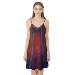 Bright Background With Stars And Air Curtains Camis Nightgown