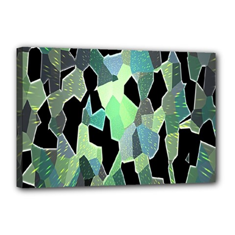 Wallpaper Background With Lighted Pattern Canvas 18  X 12